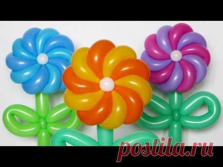 La manzanilla kruchenaya de 10 pétalos \/ Twisted daisy of balloons (Subtitles)