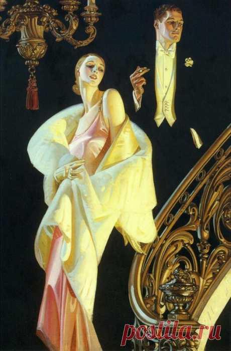 Картинки для декупажа. Joseph Christian Leyendecker - Дамы и кавалеры