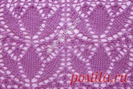 pattern 314th openwork lilies | catalog knitted spokes of patterns