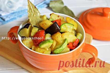 Рагу из кабачков и баклажанов и картофеля | Легкие рецепты