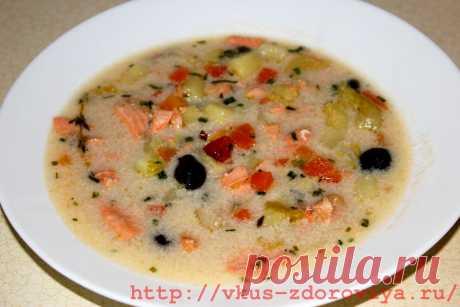 Как готовить вкусный рыбный суп со сливками   vkus-zdoroviya.ru