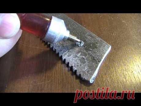 Чем сверлить каленую сталь. Сверлим пилу из быстрореза