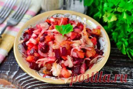 Винегрет быстрого приготовления - вкусный и готовится гораздо проще классического Винегрет быстрого приготовления – это отличный салат, который получается не только очень вкусным, но и полезным. Приятного аппетита!