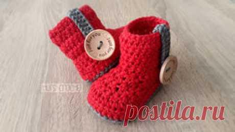 Hut's Amore - Crochet baby booties - Welcome to Hut's Crochet's Webseite!