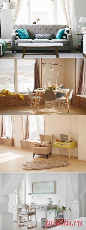Весенний интерьер в стиле хюгге: как выбрать правильные шторы