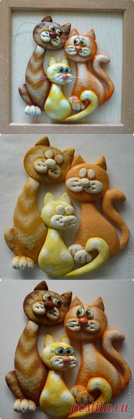 мини МК кошки Марины Архиповой.