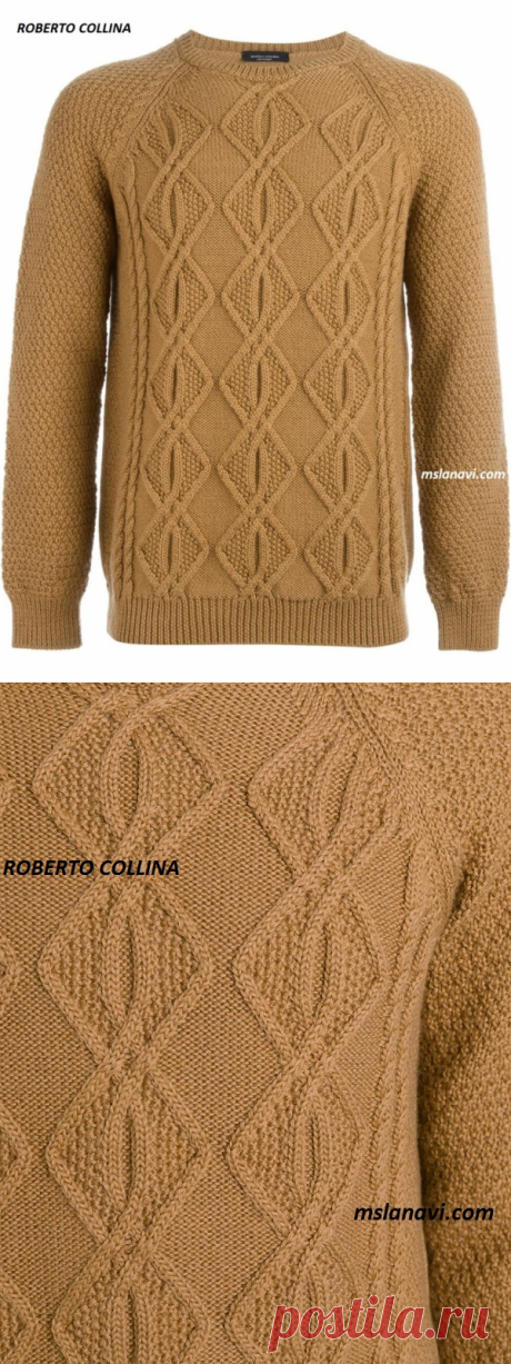 Men's sweater from ROBERTO COLLINA   we Knit with Lanah Vee