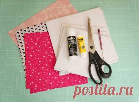 Как сделать аккуратную текстильную обложку