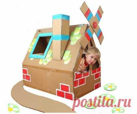 Как из картона сделать домик своими руками, мастер класс, идеи