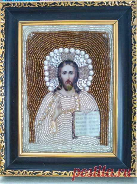 EL SEÑOR DE LOS EJERCITOS Imagen decorada con chaquiras
