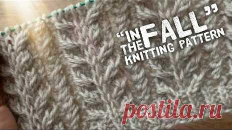 Изысканная РЕЗИНКА спицами «In the fall»: подробно! / ПРЯЖА «Merino yak» /Elastic knitting pattern