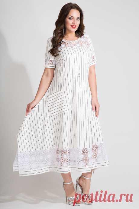 Платье Лилиана 728N молочные тона - Одежда из Белоруссии