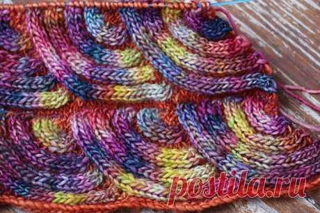 Pattern master class spokes * Scales of a dragon * in equipment a patchwork - Modnoe Vyazanie ru.com