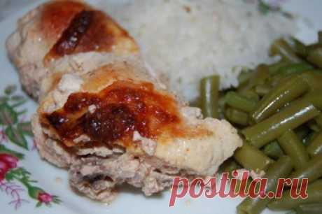 Курица, запечённая в кефире : Вторые блюда
