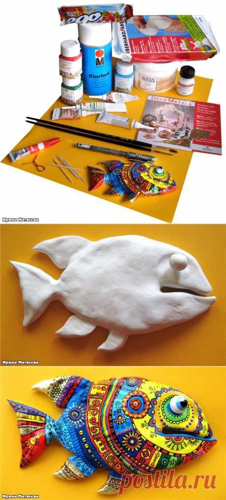 Рыба из глины. Мастер-класс по лепке и росписи | Очумелые ручки