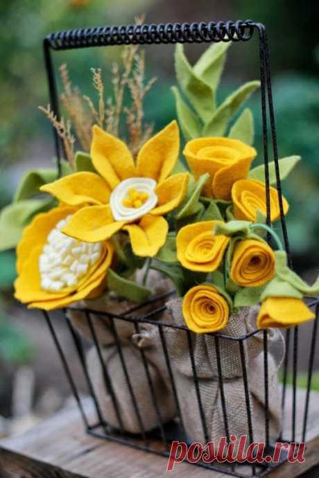 Мягкое очарование цветов из фетра — Делаем руками