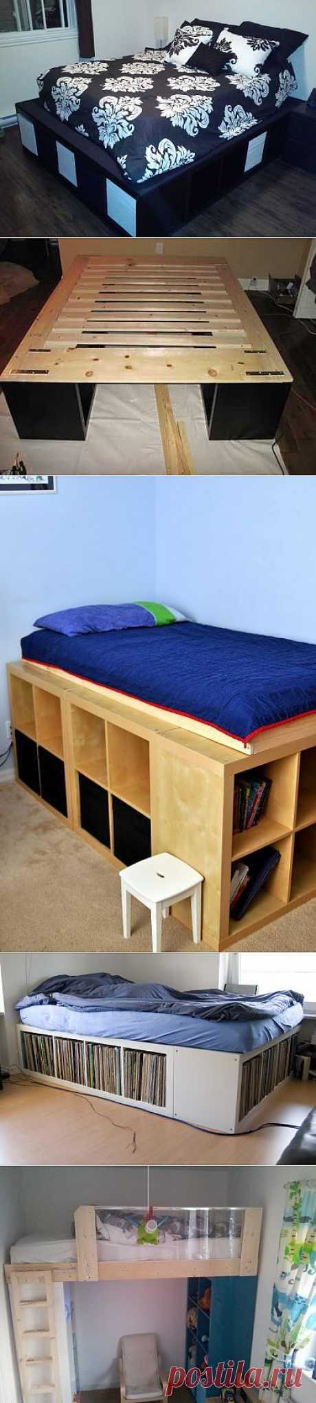 6 способов создать кровать из стеллажа Экспедит (Diy) / Мебель /