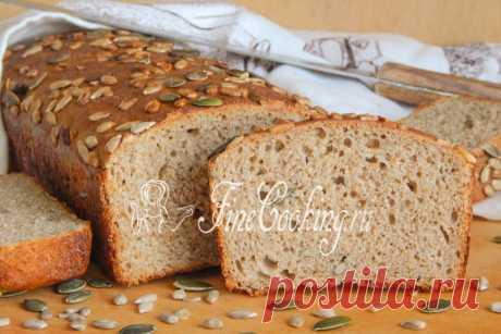 El pshenichno-pan de centeno con las semillas sobre la levadura - la receta de la foto