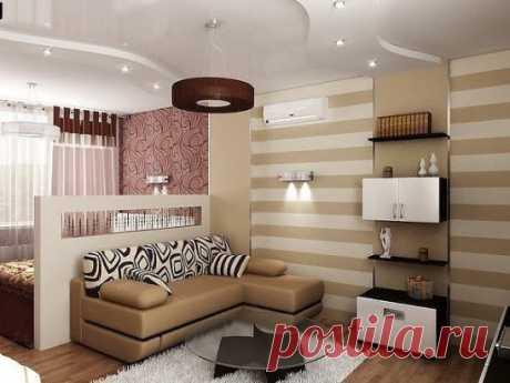 Идеи для однокомнатной квартиры!