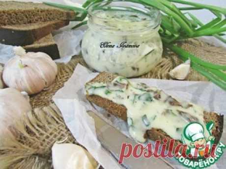 Плавленый сыр с грибами и зеленью - кулинарный рецепт