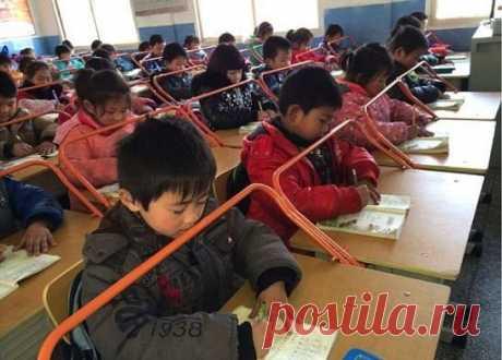 Вот так китайцы с детства берегут осанку и зрение детей! Вот это да!