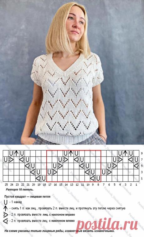 Вдохновение от инстаграмных мастериц: красивые футболки спицами с описанием и схемами | Paradosik_Handmade | Яндекс Дзен