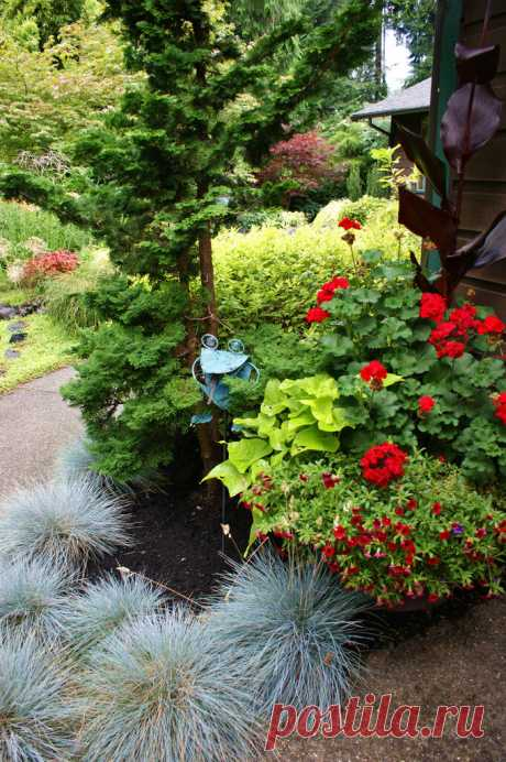 Частный сад Montoure Sanchez Garden. США.
