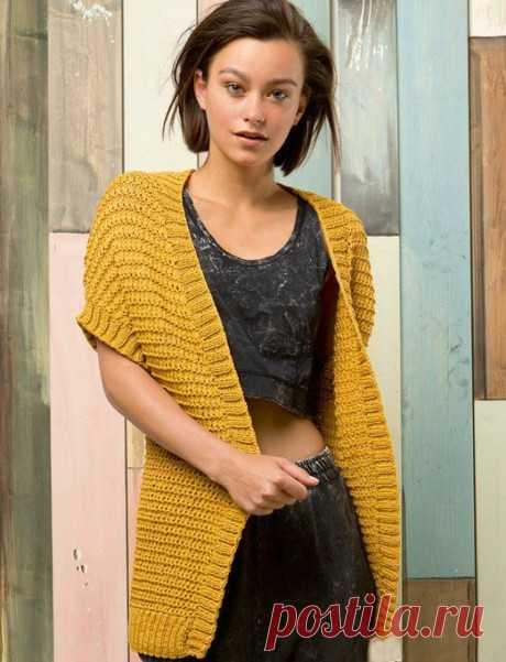 27 схем безрукавки для вязания спицами с видео уроками вязание для