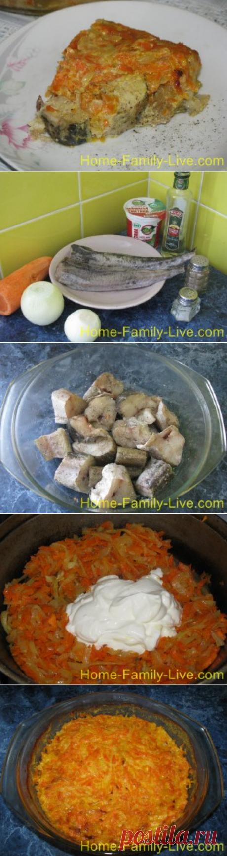 Минтай в сметане - пошаговый фоторецепт печеной рыбыКулинарные рецепты