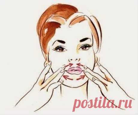 Как делать массаж против морщин