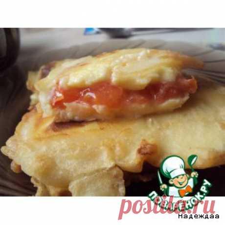 Cыр с помидорами в пивном тесте