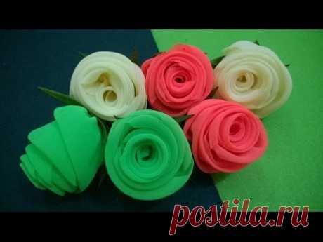 D.I.Y. Neon Chiffon Fabric Roses - Tutorial