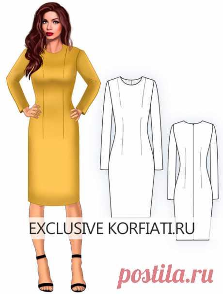 Dress pattern basis for downloading from A. Korfiatya