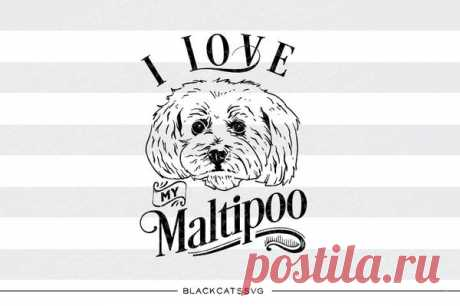 I love my Maltipoo-  SVG file Cutting File Clipart in Svg, Eps, Dxf, Png for Cricut & Silhouette - I love my Maltipoo dog I love my Maltipoo - SVG file This is not a vinyl, the file contains only digital files, and no material items will be shipped. This is a digital download of a word art vinyl decal cutting file, which can be imported to a number of paper crafting programs like Cricut Explore, Silhouette and some other cutting machines.