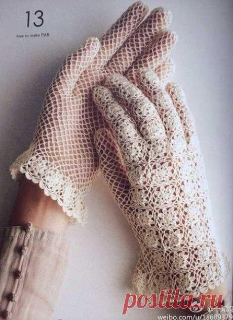 Openwork gloves of a kryuchkom.skhem Elegant gloves hook scheme  