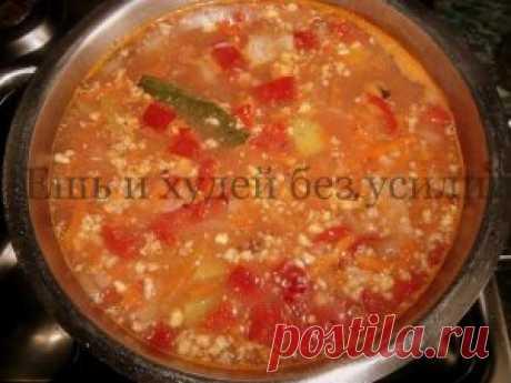 Грузинский суп харчо из говядины в русской вариации