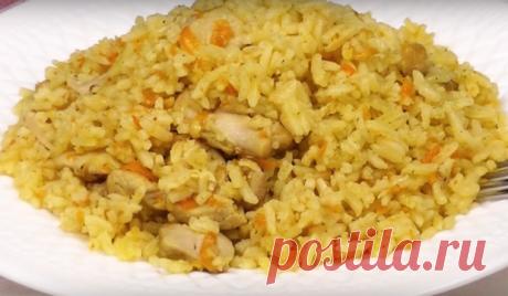 Курица с рисом — ужин за 5 минут Блюдо очень похоже на плов и готовится в считанные минуты. Его можно смело добавить в ваше повседневное меню и оно отлично подойдет к обеду или ужину. Блюдо готовится не более чем за 30 минут. Рис получается рассыпчатым, а мяско нежным. Необходимые продукты 500 грамм курицы 2 стакана риса 4 стакана...