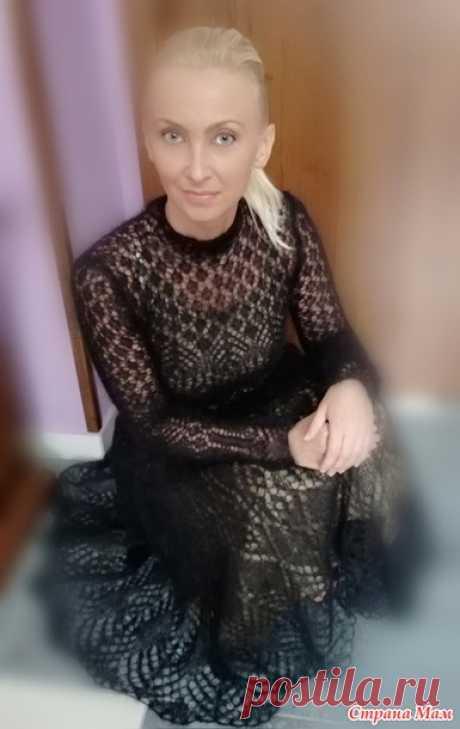 . Платье из мохера шетландским кружевом - Вязание - Страна Мам