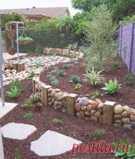 Декор сада камнями (32 фото). ~ ALL-DEKOR