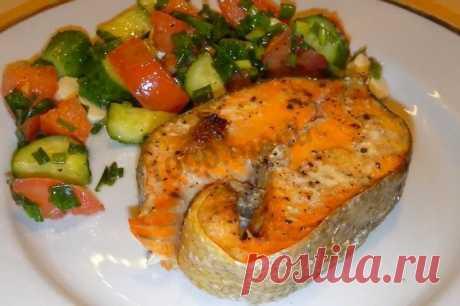 Стейк из красной рыбы в духовке рецепт с фото и video - 1000.menu