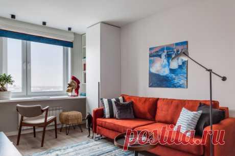 До и после: Светлая квартира 44 кв.м в «доме на ножках» Почти без перепланировки, но после ремонта квартиру не узнать