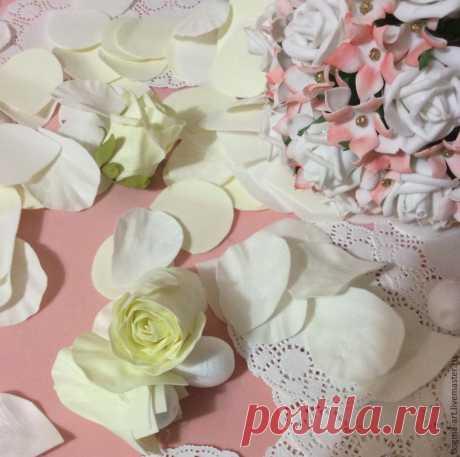 Закрытые розы из фоамирана — Фоамиран: фото мастер-класс