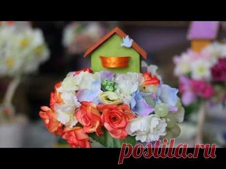 """Топиарий """"Цветочный домик"""". Мастер-класс"""