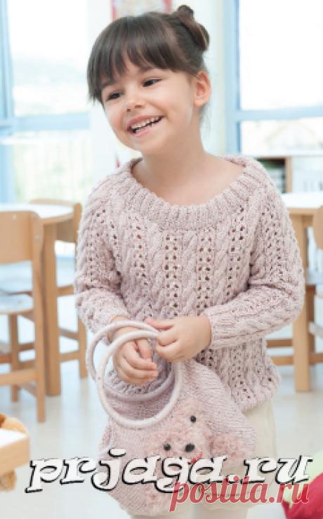 Красивый детский пуловер спицами