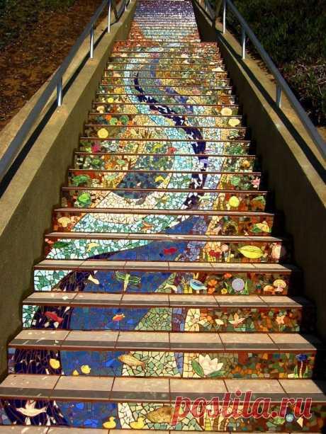Потрясающая мозаичная лестница в Сан-Франциско | КЛУБ ПУТЕШЕСТВЕННИКОВ