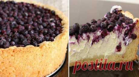 Творожный пирог с ягодами. Вкусный и нежный, просто тает во рту!