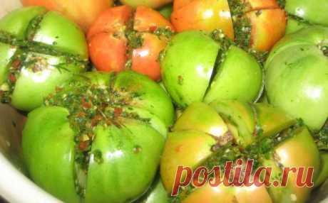 Зеленые помидоры на зиму пальчики оближешь