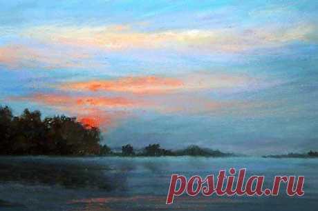 Рисуем закат на берегу моря — DIYIdeas