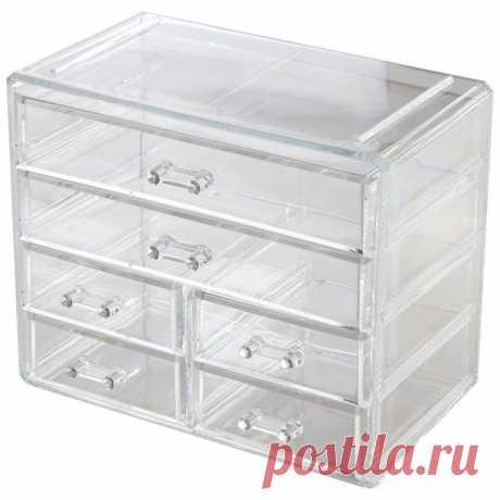 Органайзер для косметики с ящичками, 23,5 х 13,5 х 20 см — купить по цене от 1590 руб.
