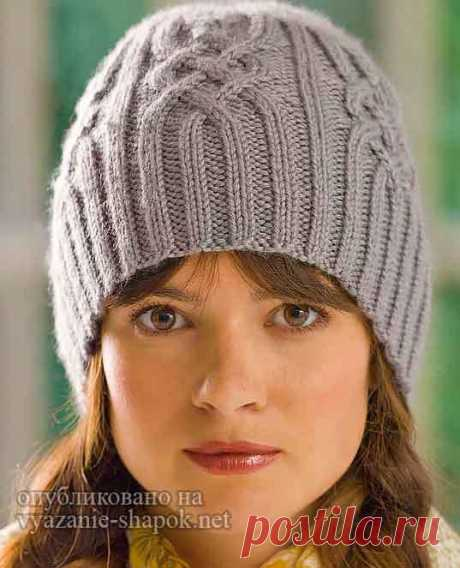 Charming hat from arana spokes from Redkhart | Knitting of Caps Spokes and the Hook
